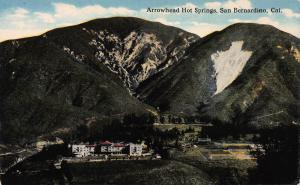 Arrowhead Hot Springs, San Bernardino, California, Early Postcard, Unused