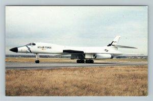 Dayton OH- Ohio, Air Force Museum, Rockwell International Plane, Chrome Postcard