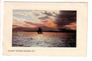 Sunset, Nanaimo Harbour, British Columbia, Wide Border