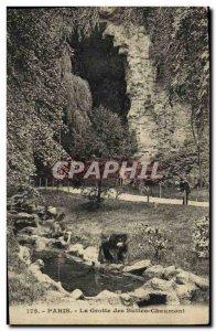 Old Postcard Paris Cave Buttes Chaumont