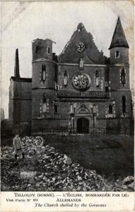 CPA Militaire, Tilloloy - L'Eglise (362121)