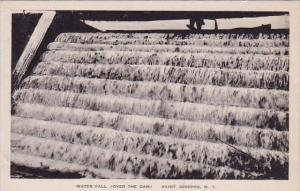 New York Saint Josephs Water Fall Over The Dam Albertype