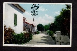CA Garden Ramona's House Camulos California Calif Postcard Phostint PC