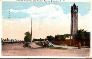 New York Brooklyn Eastern Parkway and Water Tower 1923