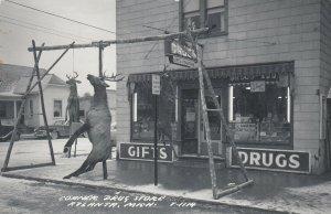 RP: ATLANTA , Michigan , 1930-40s ; Corner Drug Store, Deer