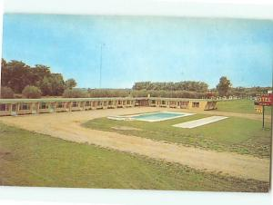 British Columbia Canada Bradford Hotel Burns Lake Swimming Pool  Postcard # 5782