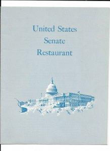 Vintage Restaurant Menu UNITED STATES SENATE RESTAURANT 1966
