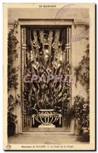 Champagne - Monument of Navarino - La Parte Crypt - Old Postcard