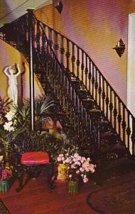 Beautiful Curved Iron Staircase At The Elms Natchez Mississippi