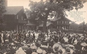 Band Concert Far Hills Dayton, OH President Pattersons Summer Home 1905 Postcard
