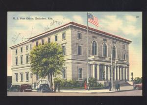 GADSDEN ALABAMA UNITED STATES POST OFFICE VINTAGE POSTCARD