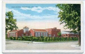 High School Valparaiso Indiana 1930s postcard