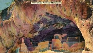 AZ - Tonto Cliff Dwellings near Roosevelt Dam National Monument