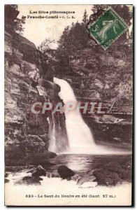 Old Postcard The picturesque sites of Franche Comte Doubs The jump was
