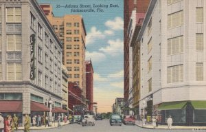 JACKSONVILLE, Florida, 30-40s; Adams Street, looking East