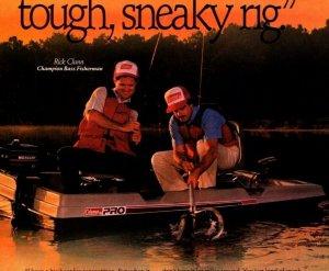 1988 Coleman Ram-X Pro Fishing Boat Print Ad