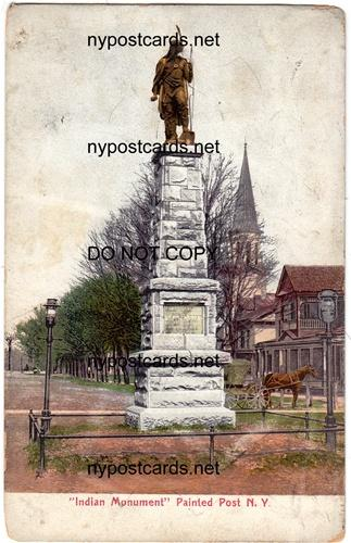 Indian Monument, Painted Post NY