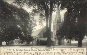 Falmouth Cape Cod MA St. Barnabas Church c1905 Postcard