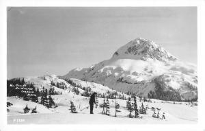 Cordova Alaska birds eye view Mt Eccles in winter real photo pc Z21996