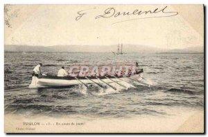 Old Postcard Bateau Toulon During joust