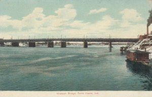 TERRE HAUTE, Indiana, 1900-10s; Wabash Bridge