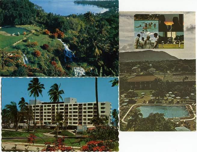 (3 cards) Views of Jamaica - Gardens at Ocho Rios - Hilton - Sheraton