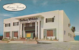 Florida Miami Beach Arthur Wilde's Oceanfront Restaurant & Lounge sk4918