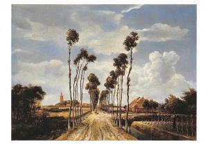Hobbema Meyndert, The Avenue Middelharnis Postcard