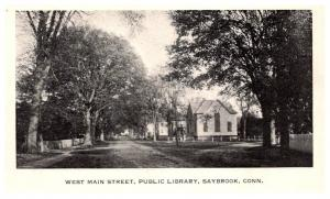 Connecticut Saybrook , West main Street , Public Library