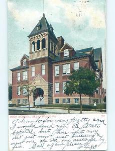 Pre-1907 HIGH SCHOOL Allentown Pennsylvania PA A1963