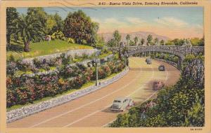 California Riverside Buena Vista Drive Entering Riverside 1940