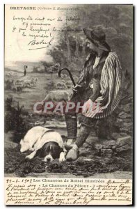Old Postcard Folklore songs Botrel Song of the Dog Patour