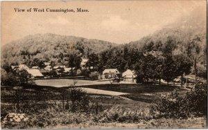 View Overlooking West Cummington MA c1919 Vintage Postcard X08