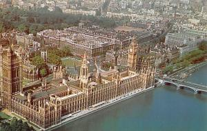 Aerial view Of Houses of Parliament, Big Ben, Westminster Abbey and Whitehall