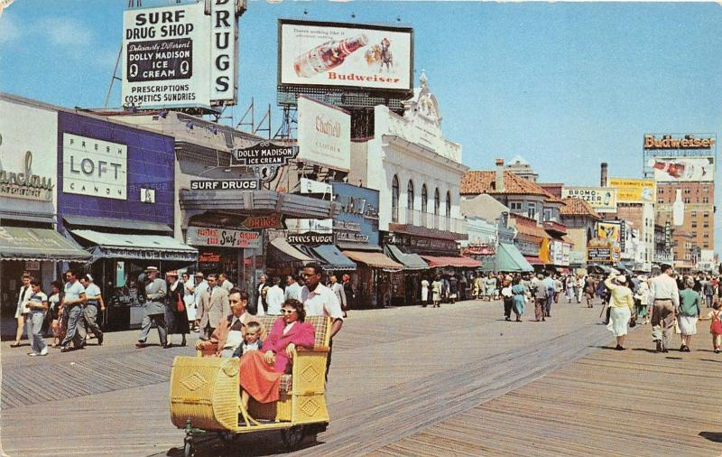 atlantic city new jersey boardwalk rolling chairs budweiser signs