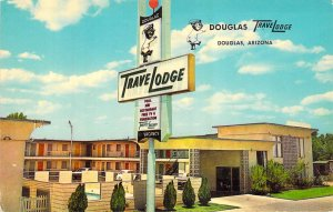 TraveLodge Douglas Arizona AZ Is Now Travelers Motel Chrome Unused Postcard