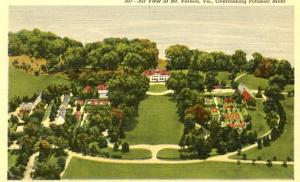 VA - Mount Vernon, Aerial View Overlooking the Potomac River