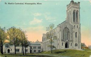 Minneapolis Minnesota~St Mark's Episcopal Church Cathedral~1910 Postcard