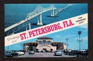 FL Greetings from ST PETERSBURG FLORIDA Postcard PC