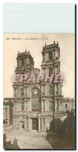 Old Postcard Rennes The Ctahedrale