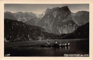 Piburgersee bei Otz Lake Boat Mountain Postcard