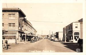 Auburn Washington Street Scene Real Photo Antique Postcard K44753