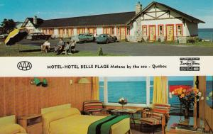 MATANE  BY THE SEA, Quebec, Canada, 1950-60s; Motel Hotel Belle Plage 2-views