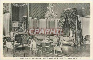 Postcard Old Palace of Fontainebleau Former Queens Officers Lounge Meres