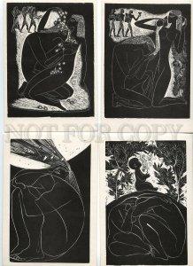 128929 ART NOUVEAU Nudes by KRASAUSKAS Collection SET 13 PCs