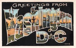 Greetings From Washington, D.C., Early Postcard, Unused