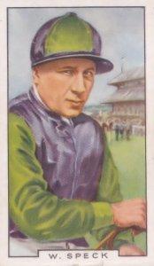 W Speck Cheltenham Killed Horse Race Jockey 1930s Cigarette Card