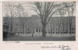 The New Haven High School, New Building, New Haven, CT, Postcard, Used in 1904