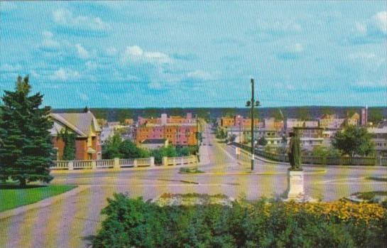 Canada Central Avenue Looking North From Court House Prince Albert Saskatchewan