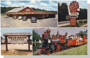 North Scituate , Rhode Island/RI Postcard, Highland Orchards, Railroad/RR